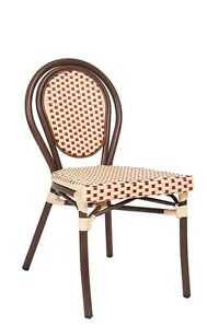 Lot Of 10 Aluminum Restaurant Outdoor Patio Poly Woven Chair