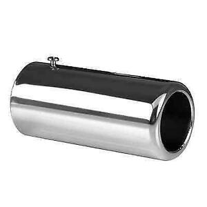 Ap Exhaust 9822 Bolt On Exhaust Chrome Tailpipe Tip For Civic Fusion Camry Milan
