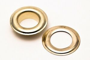 1000 2 3 8 Grommets Washers Brass Gold Color Ideal For Making Posters tags