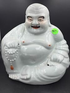 Large Chinese Famille Rose Porcelain Sitting Laughing Buddha Zhu Maoji
