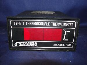 Omega 650 T X 120vac Thermocouple Thermometer