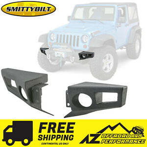 Smittybilt Xrc Crawler End Plates For 07 18 Jeep Wrangler Jk Jku 76830 Black