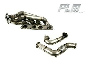 Plm T3 Twin Scroll Turbo Manifold Dual 38mm V Band With Downpipe For Honda S2000