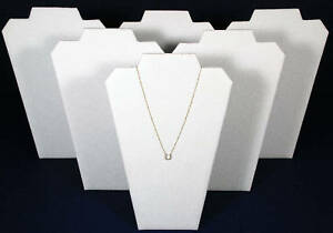 6 White 13 Leather Necklace Pendant Jewelry Displays