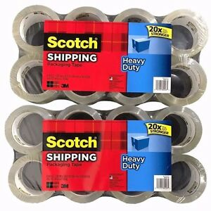 16 Rolls Scotch 3m Heavy Duty Shipping Packaging Tape 1 88in X 54 6y
