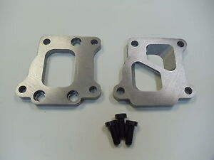 Evo 8 Dsm Exhaust Manifold To T3 Undivided Turbo Adapter Flanges 2 1 2 Cnc