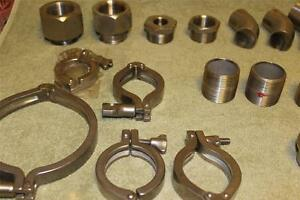 Sanitary Tri clamps 316l 304l Caps Clamps Elbows Ferrules Fittings More