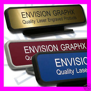 Personalized Custom Desk Name Plate Designer Rd Frame send Text And Color Comb