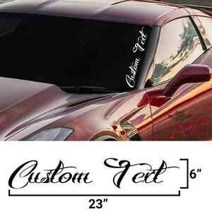 Custom Text Windshield Banner Decal Car Diesel Truck Sticker Jdm Pick Color