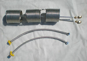 Stainless Coil Hot Water Or Multi use end In out braided Hoses 5004095