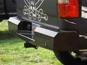 Trail Fx Fx1012 Black Steel Heavy Duty Rear Bumper For Chevy Silverado 1500
