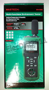 Mastech Ms6300 69 500 Multi Function Sound Light Temp Wind Tester