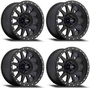 Method Race Double Standard Mr30458012524n Wheel Rims 15x8 24mm 5x114 3 Black