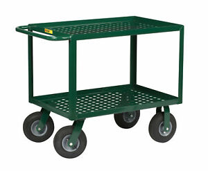 53 5 Perforated Deck Utility Cart With Pneumatic Cushion load Wheels