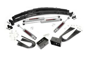 Rou 100 20 Rough Country 69 72 Chevy 4in Suspension Lift Kit W N2 0 Shocks