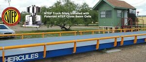 Prime Scale Hercules 40 X 10 Ft Truck Scale 100 000 Lb Steel Deck Ntep Approved