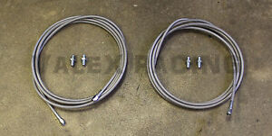 Stainless Main Rear Brake Line Replacement Kit 94 01 Acura Integra Dc2
