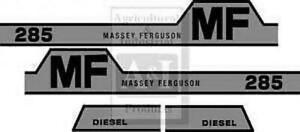 Massey Ferguson 285 Hood Decal Set