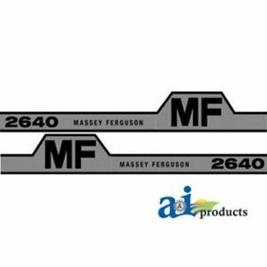 Massey Ferguson 2640 Hood Decal Set