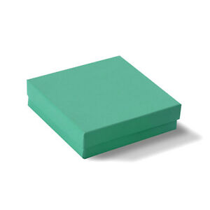 100 Teal Cotton Filled Jewelry Gift Boxes 3 1 2 X 3 1 2 X 1
