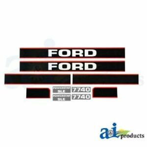 Ford 7740 Hood Decal Set
