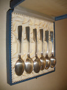 Prince Harald Th Marthinsen Norway Sterling Silver Demitasse Spoons Set Of 6