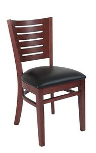 Lot Of 20 Mahogany Finish Decorative Back Wood Restaurant Chair