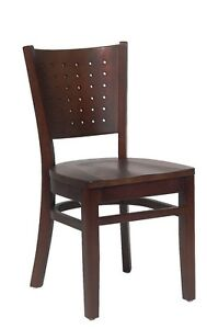 Lot Of 20 Walnut Finish Decorative Back Wooden Restaurant Chair