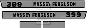 Massey Ferguson 399 Hood Decal Set