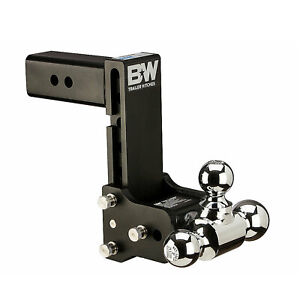 B w Hitches Ts20049b Tri Ball Tow Stow Hich Ball Mount 7 Drop 7 5 Rise
