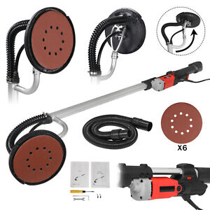 Electric 800w Variable Speed Drywall Sander W Vacuum Hose Sander Discs