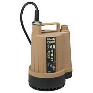 Liberty Pumps Model 260 1 6 Hp Submersible Utility Pump W 3 4 Inch Hose Adapter