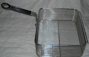 14 5x12x5 5 Stainless Steel Fry Basket With Black Handle 5003456