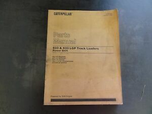Caterpillar 933 933 Lgp Track Loaders Parts Manual Sebp2244 8fl 9el