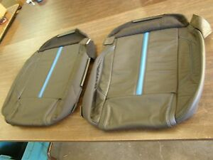 Nos Oem Ford 2011 2012 2013 Mustang Premium Leather Seat Covers Blue Stripe Gt