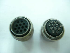 Souriau 84031150 12pin Locking Connector Pins Included New