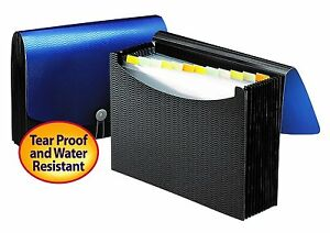 File Pocket Expanding Folder Office Organizer Document Paper Storage 4 Pack