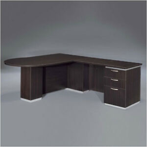 Flexsteel Contract Pimlico Right Peninsula L shape Peninsula Executive Desk