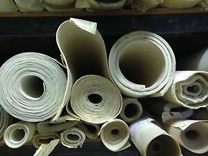 Fiberglass Reinforced 36 X36 White Silicone Rubber Sheet 3 32 Thick High Temp
