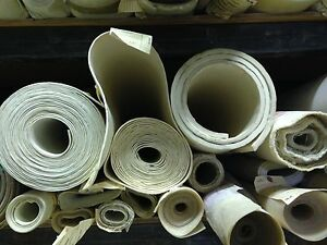Fiberglass Reinforced 36 x36 White Silicone Rubber Sheet 1 8 Thick High Temp