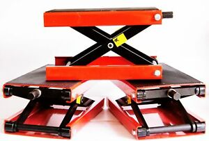 Epc Wide 1000 Lb Motorcycle Scissor Center Jack Cycle Lift Harley