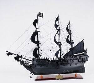 Caribbean Pirate Tall Ship Black Pearl 28 Wooden Model Sailboat Assembled