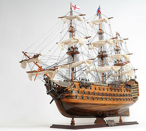 Hms Victory Admiral Nelson Flagship Tall Ship 30 Wood Model Sailboat Assembled
