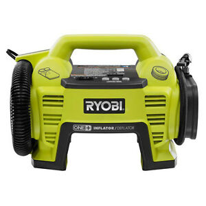 Ryobi 18v Cordless Portable Air Compressor Inflator Deflator Car Bike Tire Pump