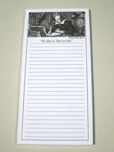 10 Pack White Note Pads Shakespeare Stationery to Do Or Not To Do