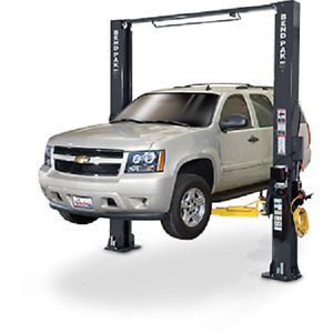 Bendpak 10 000 Lb 2 Post Clearfloor Drive On Car Lift W Low Pro Arms Xpr 10s lp
