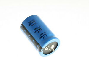 10 X Cde 330uf 450v Aluminum Electrolytic Snap In Capacitor
