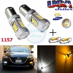 Samsung 31 smd Led 1157 Switchback Turn Signal Light Bulbs W Resistors