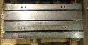35 375 X 15 75 X 3 Steel Weld T slotted Table Cast Iron Layout Plate Weld Jig