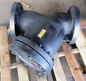 8 Inch Rp c Y strainer Model Fc2 250 Flange Cast Iron 1 8 Perf Screen